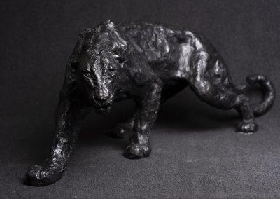 panthère 3/4 face plongée - bronze original