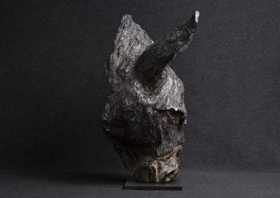 âne, profil droit - bronze original