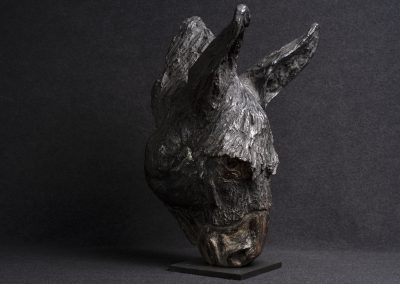 âne, 3/4 profil droit - bronze original