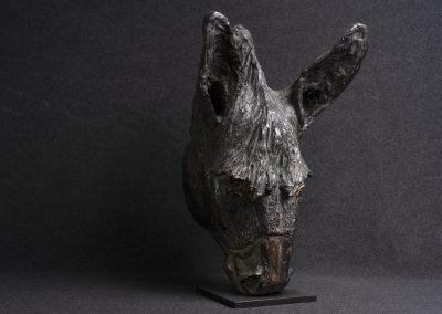 âne, 3/4 face droit - bronze original