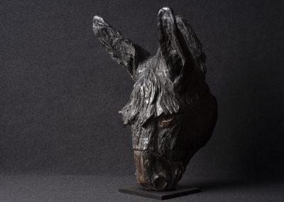 âne, 3/4 profil gauche - bronze original