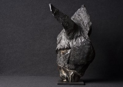 âne, profil gauche - bronze original