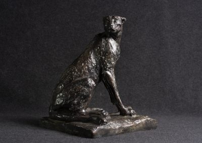 Guépard, profil droit - bronze original
