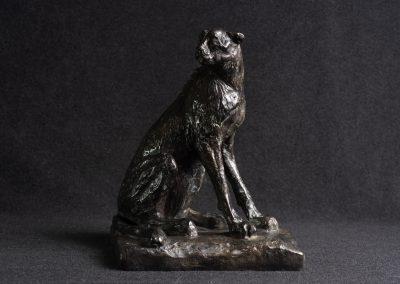 Guépard, 3/4 profil droit - bronze original
