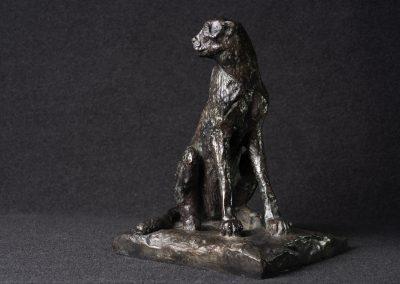 Guépard, 3/4 face droit - bronze original