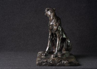 Guépard, 3/4 face gauche - bronze original
