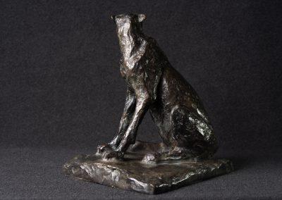 Guépard, 3/4 profil gauche - bronze original