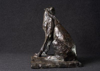 Guépard, profil gauche - bronze original