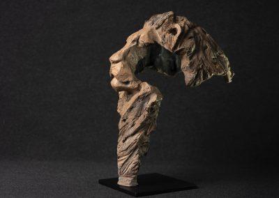 Tête de lion, 3/4 profil gauche - bronze original