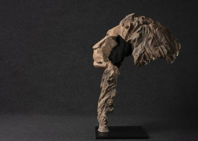 Tête de lion, profil gauche - bronze original