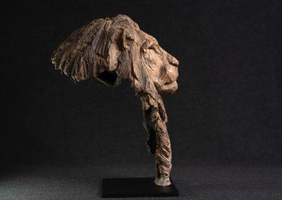 Tête de lion, profil droit - bronze original
