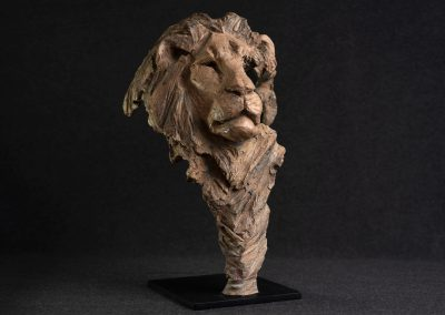 Tête de lion, 3/4 face droit - bronze original