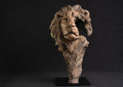 Tête de lion, face - bronze original