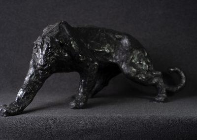 Panthère noire, 3/4 profil gauche - bronze original