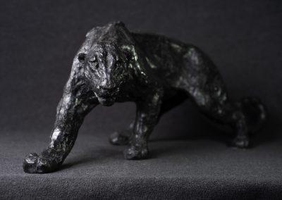 Panthère noire, face- bronze original
