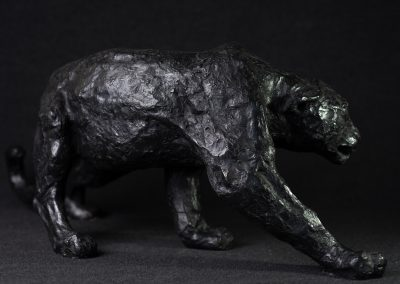Panthère noire, 3/4 profil droit - bronze original