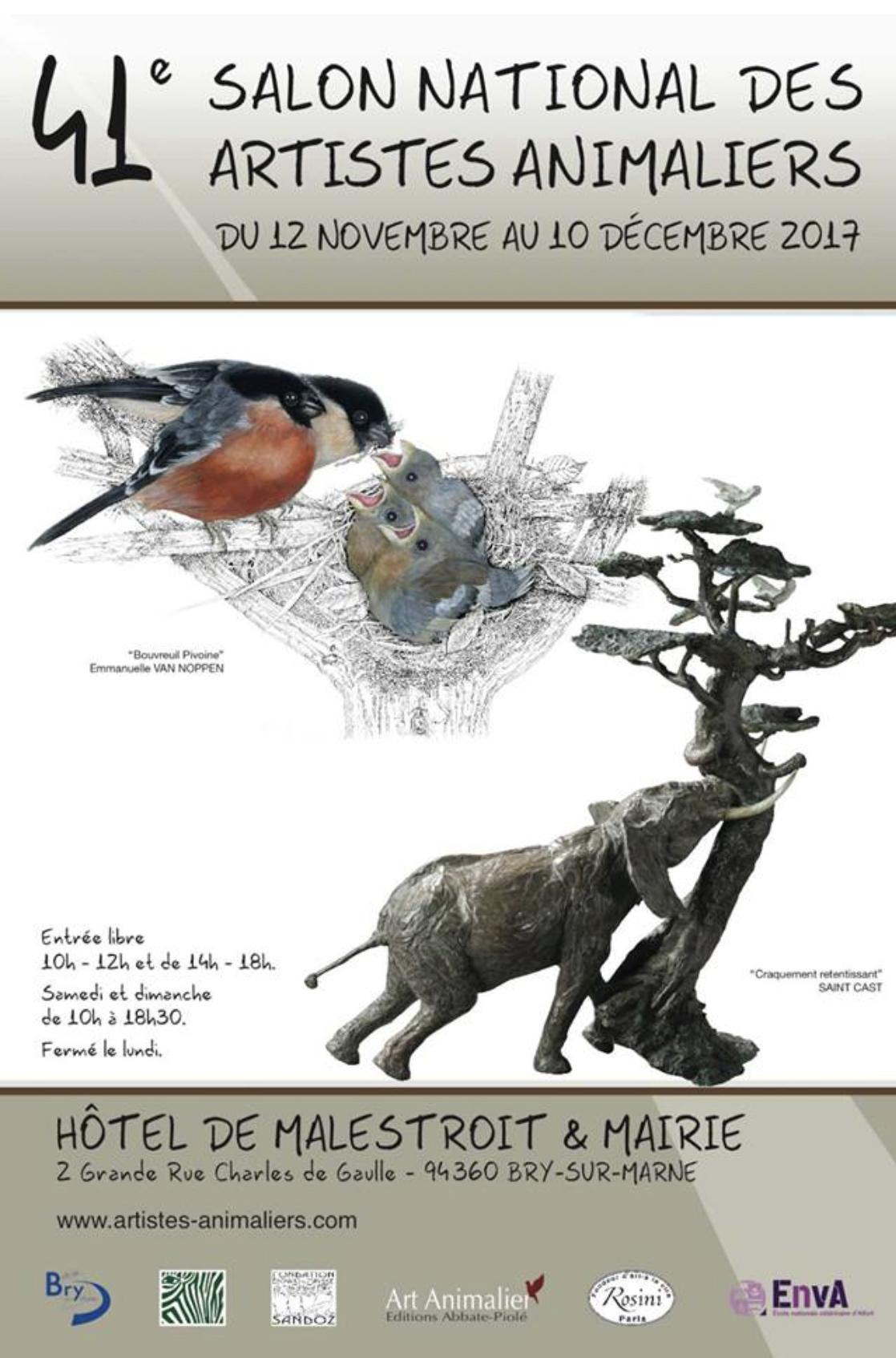 Salon national des artistes animaliers - 41e édition - Bry s/Marne 2017
