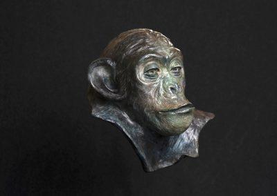 philosophe, 3/4 profil droit - bronze original