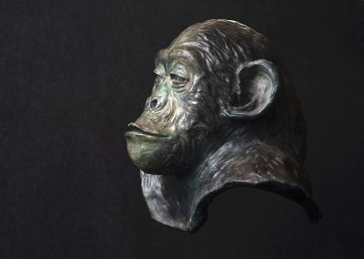 philosophe, profil gauche - bronze original