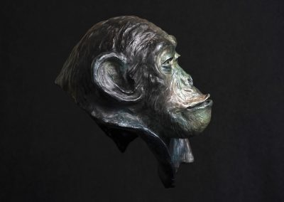 philosophe, profil droit - bronze original